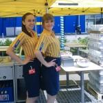 Unsere Promoterinnen am Außenstand von IKEA