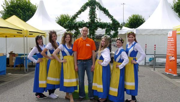 Unsere Hostessen beim IKEA-MIDSOMMAR-Fest 2015