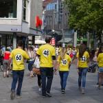 Unsere Promoter im Einsatz für Catch The Sixty in der Ulmer Innenstadt (25. Juli 2015)