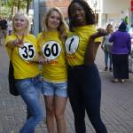 Unsere Promoterinnen für Catch The Sixty unterwegs in Ulm (25. Juli 2015)