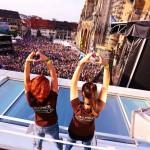Unser Gruß an die Menge! (Fotograf: Alexander Fischer)