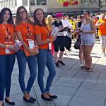 Wild Emotion Events Promoterinnen unterwegs in der Ulmer Innenstadt für ratiopharm basketball ulm