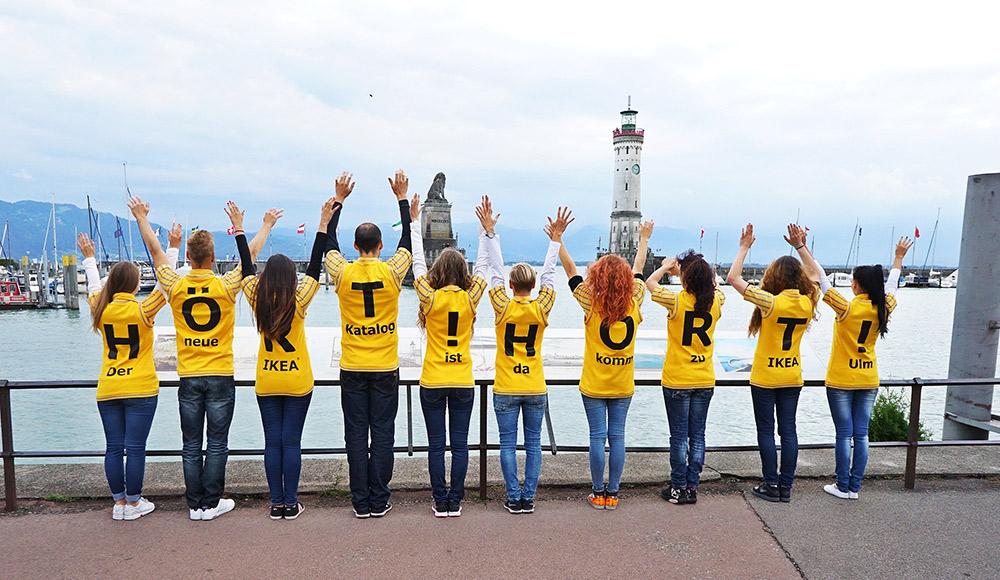Wild Emotion Events Promotion am Bodensee für den neuen Ikea-Katalog 2015, Foto: Alexander Fischer