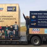 Auf dem Radio7-Promotion-Truck des Drachenkinder-Projektes