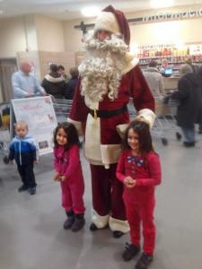 Schnappschuss mit dem Weihnachtsmann