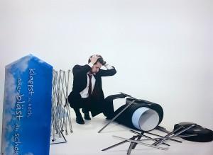 Fotoshooting für das aufblasbare Messestandsystem Windscape