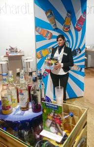 Hostess am Stand für unseren Kunden Burkhardt Fruchtsäfte auf der Intergastra 2016