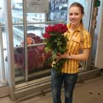 Rote Rosen am Valentinstag 2016 im IKEA Ulm