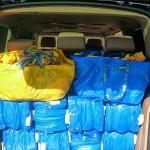 Der Osterhase hat viel zu transportieren