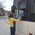 Ein kleines Präsent für den Busfahrer zu Ostern 2016