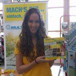 Unsere hübsche Promoterin auf der Reichenau-Insel für GLORIA Gartengeräte