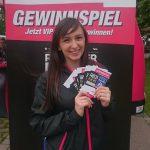 Unsere Promoterin Jasmina am Stand von Donau3FM