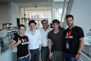 Unser Promotion-Team zusammen mit der Band Marquess, (c) fahrenheim.com