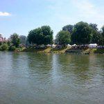Donauufer während des Internationalen Donaufestes 2016