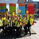 Gruppenfoto unserer Lotsinnen am Hauptbahnhof Ulm
