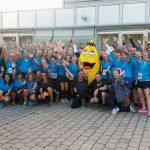 Radio 7 - Gruppenfoto mit Draki beim Einstein Marathon 2016