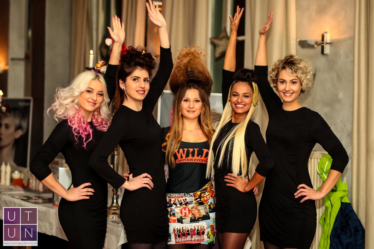 Wild Emotion Events Haarmodelle beim Friseur Spektakel im Wiley Club