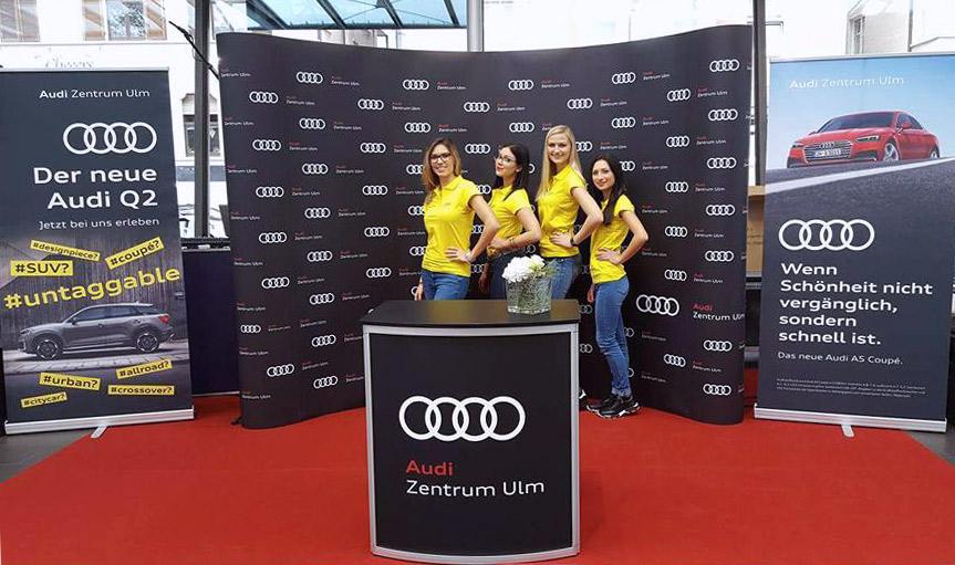 Wild Emotion Events Hostessen für das Audi Zentrum Ulm