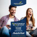 Promotion für die Game Lounge der Glacis-Galerie 2016