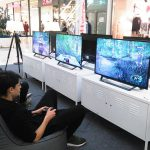 Spieler in der Game Lounge der Glacis-Galerie 2016