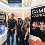 Promotion-Team in der Game-Lounge der Glacis-Galerie 2017