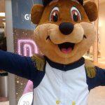 Der Glacino Bär ist das neue Maskottchen der Glacis Galerie