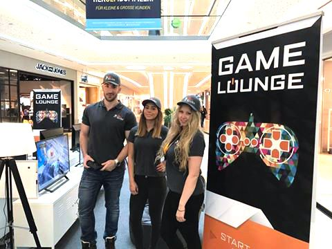 Promotion in der Game Lounge für die Glacis Galerie 2017