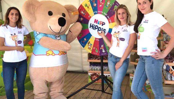 Promotion für HiPP Babynahrung beim Steiff Sommerfest 2017 in Giengen